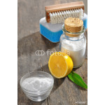cleaning tools with lemon and sodium bicarbonate 64238