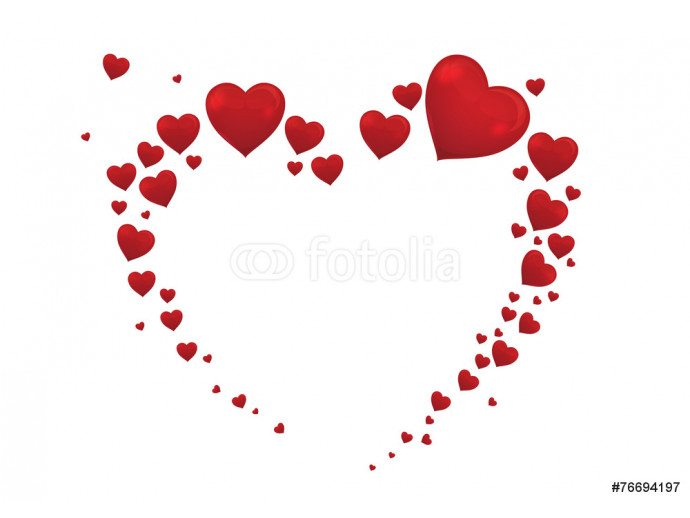 big heart valentine card vector 64238