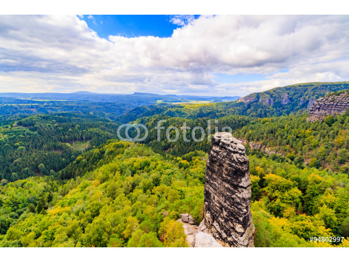 Czech - impressive views of the nearby and far away surroundings from stone bridge Pravcicka brana 64238