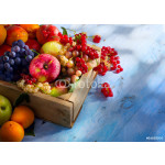 Art abstract market background fruits on a wooden background 64238