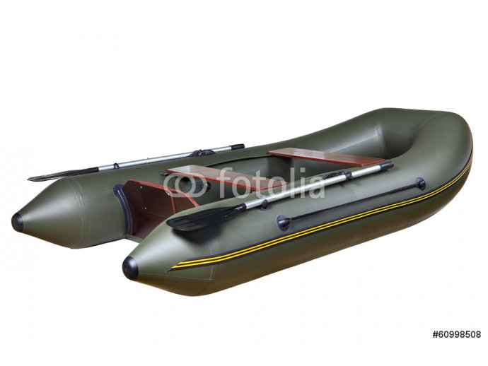 Inflatable rubber boat made of PVC, two-seat, twin, with oars. 64238
