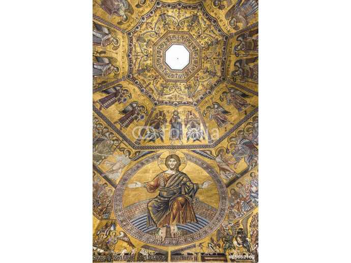 Ceiling painting of the Baptistery of San Giovanni. Florence 64238