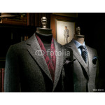 Two Mannequins in Coat and Suit 64238