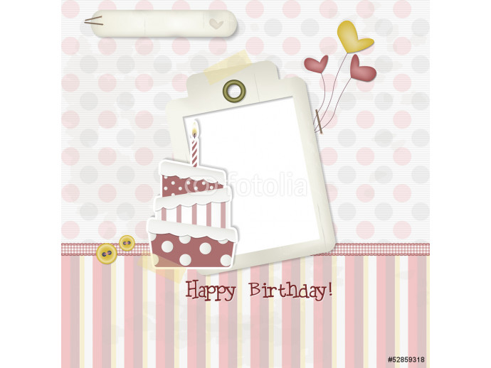 Happy Birthday - Scrapbook - Place your text and photo 64238