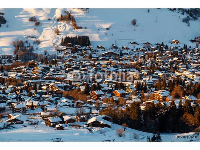 Aerial View on Ski Resort Megeve in French Alps, France 64238