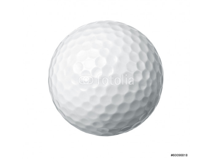 Close up of a golf ball isolated on white background 64238