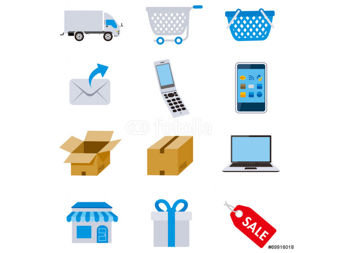Net shopping icons Vector 64238