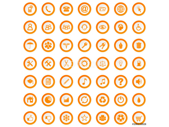 vector icons set 64238