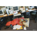Businessman camping in office 64238