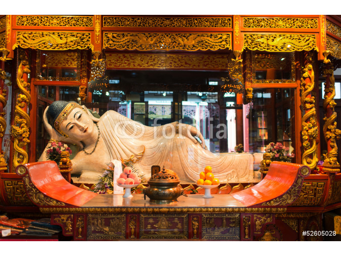 reclining statue in the The Jade Buddha Temple shanghai china 64238