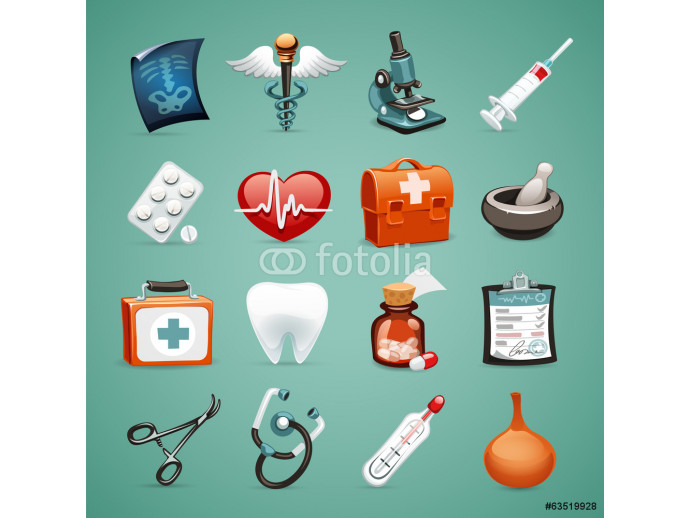 Medical Icons Set1.1 With Clipping Paths 64238