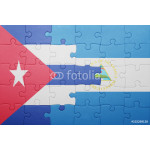 puzzle with the national flag of nicaragua and cuba 64238