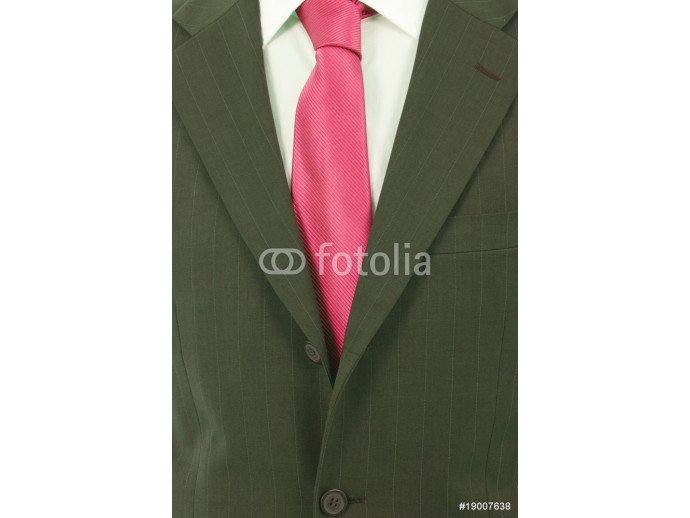 Fototapeta Detail of a Business man Suit with pink tie 64238