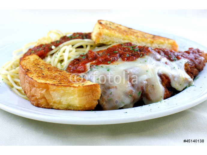 Fresh breaded veal topped with marinara sauce 64238