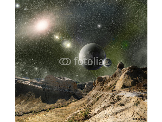 mountains and cosmos space 64238