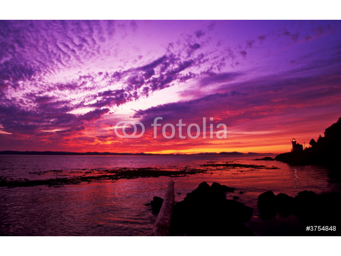 Photo wallpaper sunset at lime kiln point 64238
