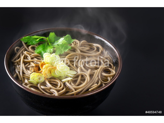 Japanese buckwheat noodles in hot soup 64238