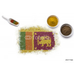 Spices forming the flag of Sri Lanka.(series) 64238