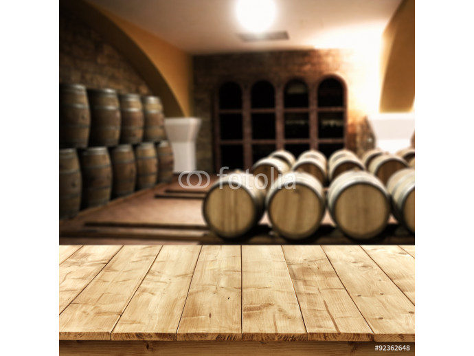 table of free space and background of barrels  64238