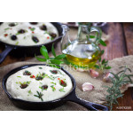 Italian Focaccia bread with olives and rosemary 64238