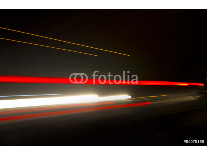 Wallpaper Car ligth trails. Art image . Long exposure photo taken in a tun 64238