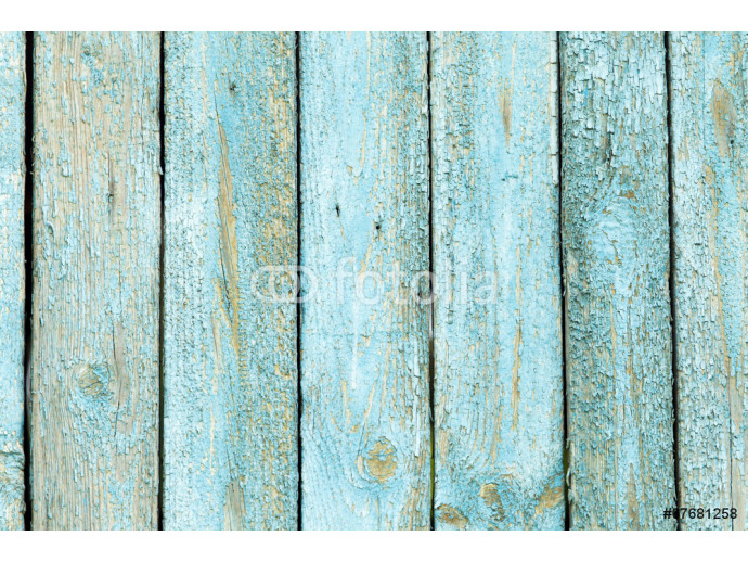 wooden background with old blue paint 64238