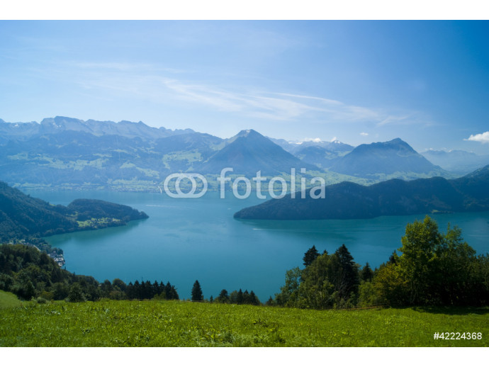 Papier peint moderne View of Lake Lucerne on the descent from Mount Rigi, Switzerland 64238