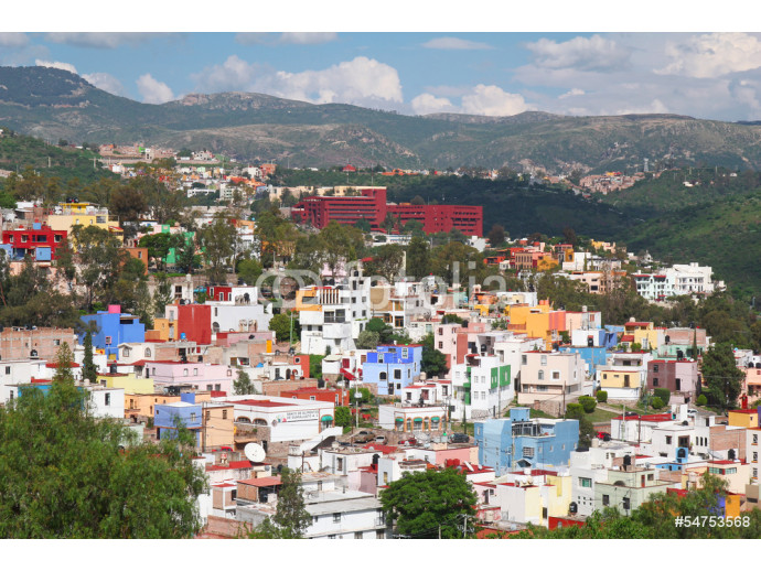 beautiful view of colorful town- Guanajuato in Mexico 64238