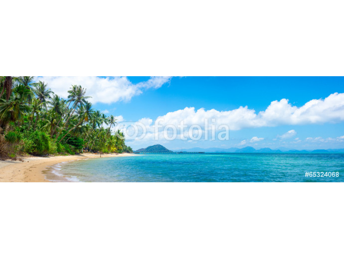Photo wallpaper Untouched tropical beach 64238