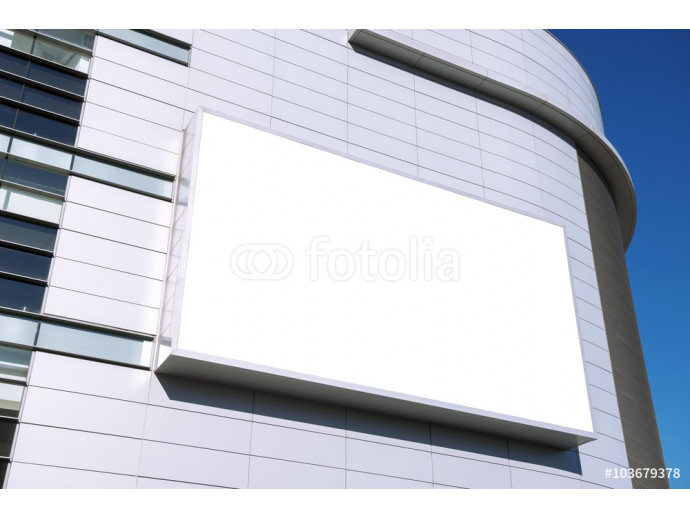 A large blank urban billboard with copy space 64238