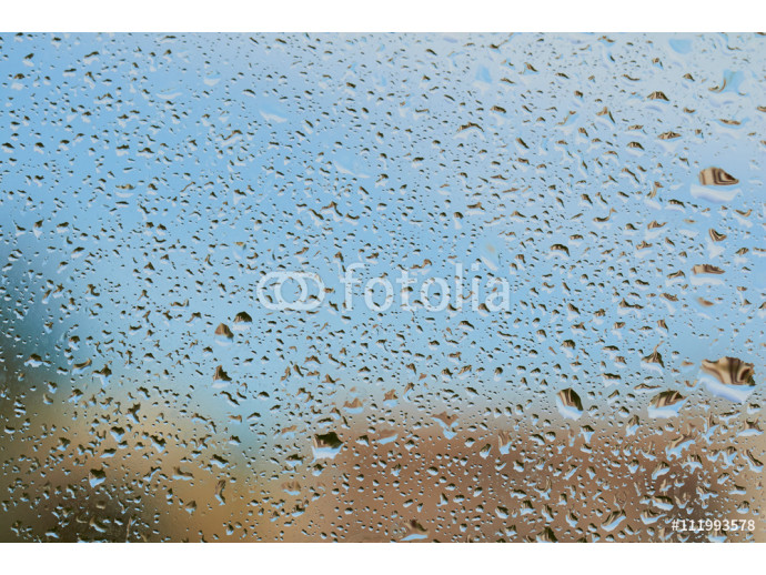 Water drops on the glass after rain 64238