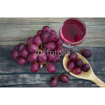 Red Grape on wooden background on top view 64238