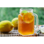Summer refreshing drink. Citrus ice tea. Selective focus 64238
