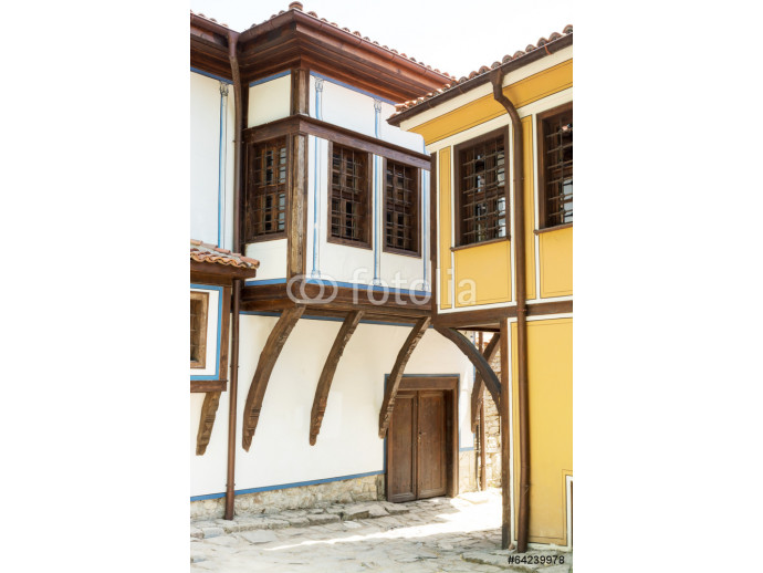 Typical architecture in the old town, Plovdiv, Bulgaria 64238