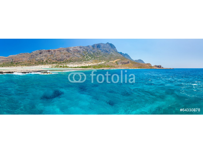Panorama of Balos beach. View from Gramvousa Island 64238