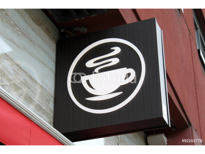 Coffee shop sign 64238