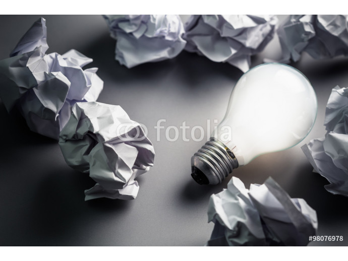 Bulb and Crumpled paper 64238