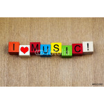 I Love Music, sign series for bands, musicians, fans. 64238