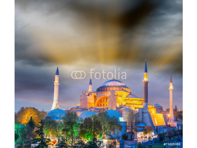 Magnificent sunset view of Hagia Sophia, Istanbul - Turkey 64238