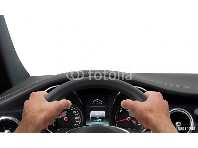 Driving hands steering wheel background isolated 64238