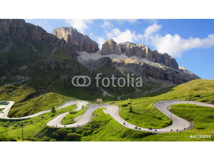 Dolomites  landscape with mountain road. 64238