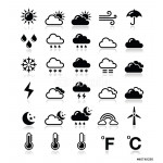 Weather icons set - vector 64238