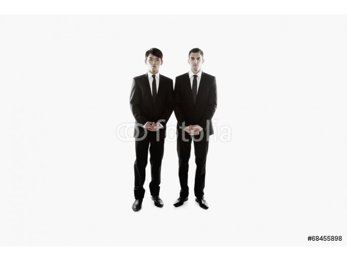 Multi-ethnic businessmen standing side by side 64238