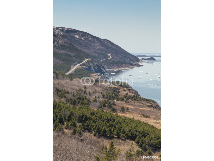 Winding Road at Cabot Trail Vertical 64238