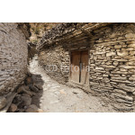 The rural residence on the mountain in Marpha village of Annapur 64238