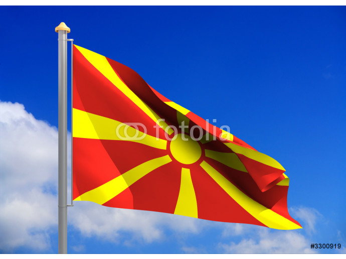 macedonia flag (include clipping path) 64238