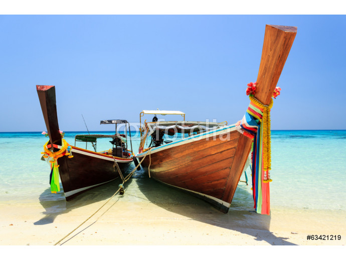Long tailed boat at Koh Rok (Rok island), Thailand. 64238