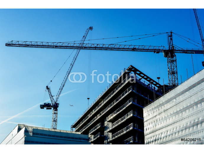 Construction of a high-rise building 64238