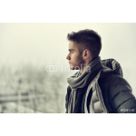 Handsome young man outdoor in winter 64238