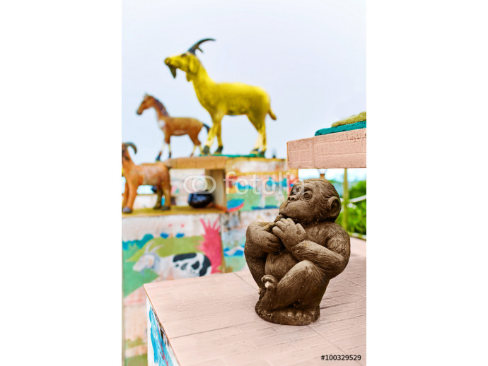 Thailand. Chinese Zodiac Statues In Koh Samui. Travel, Tourism. 64238